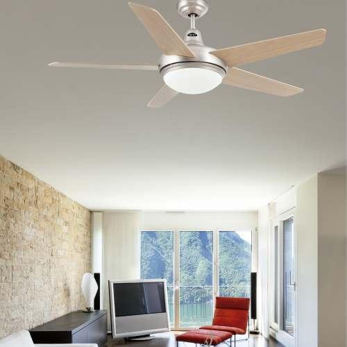 Ventilador de techo modelo ovni alvilamp - Ventilador bajo consumo ...