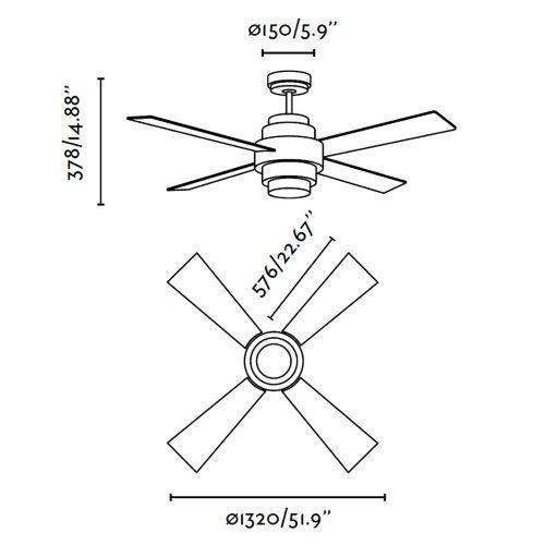 Ventilador de techo modelo disc alvilamp - Ventilador bajo consumo ...