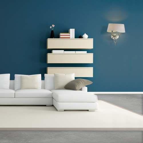 brown and beige modern living room - rendering