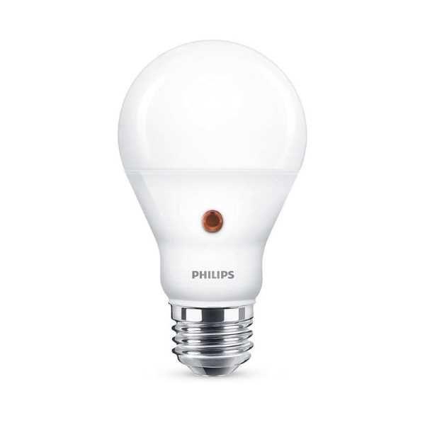 Est ndar mate led 7 5w e27 philips sensor alvilamp for Bombilla sensor crepuscular